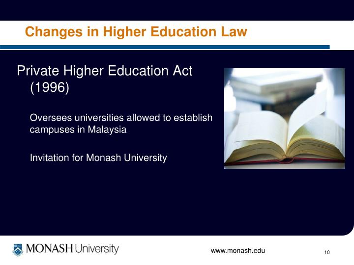 Changes in Higher Education Law