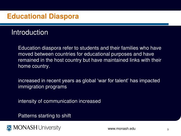 Educational Diaspora