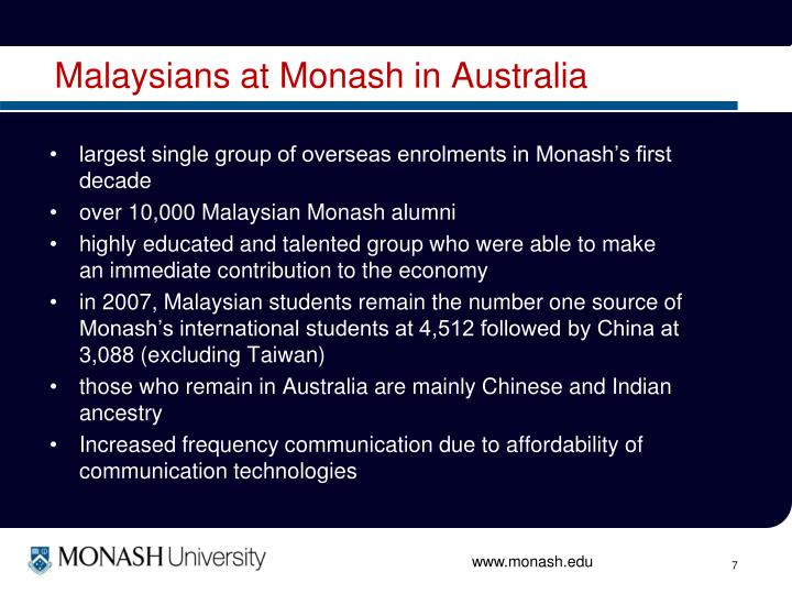 Malaysians at Monash in Australia