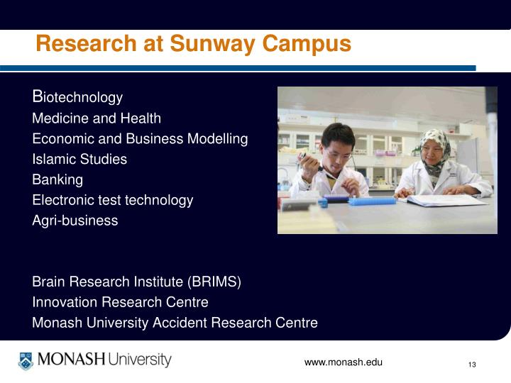 Research at Sunway Campus