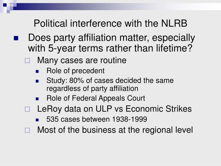 Political interference with the NLRB