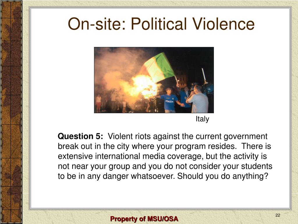 On-site: Political Violence