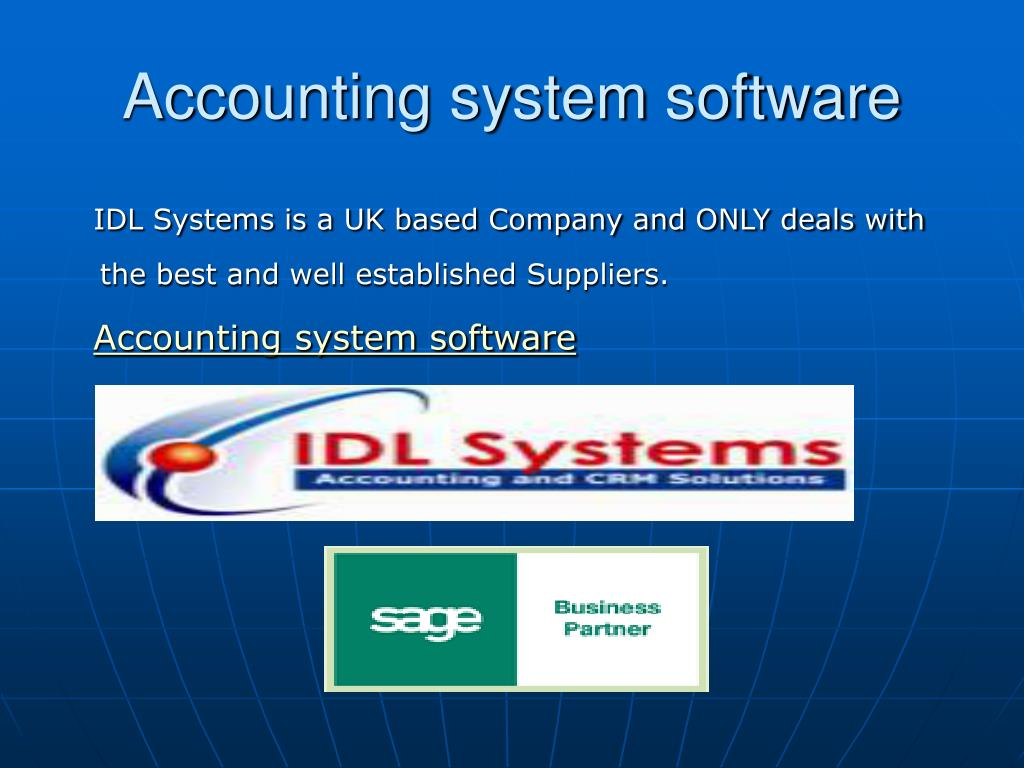 Accounting system software