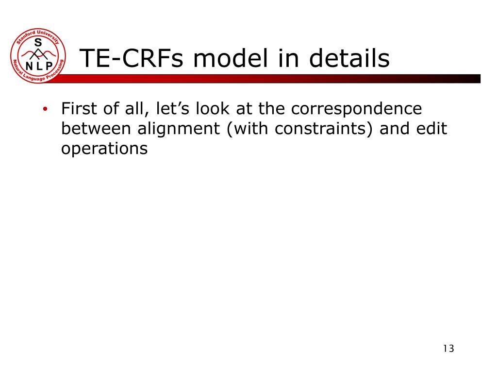 TE-CRFs model in details
