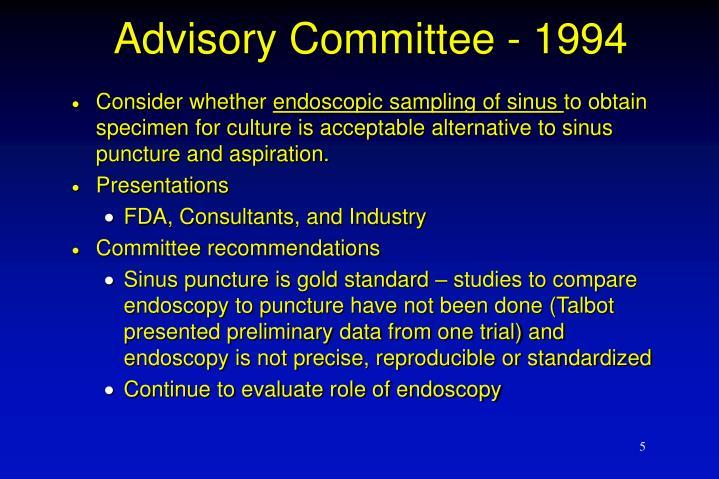 Advisory Committee - 1994