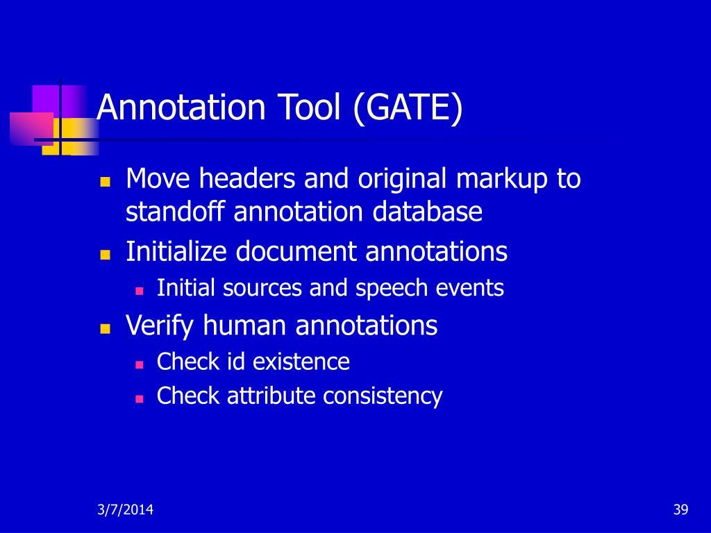 Annotation Tool (GATE)