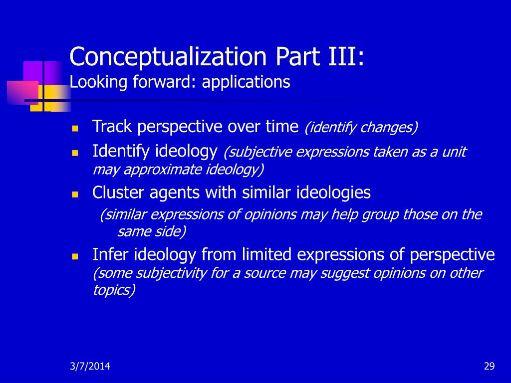 Conceptualization Part III: