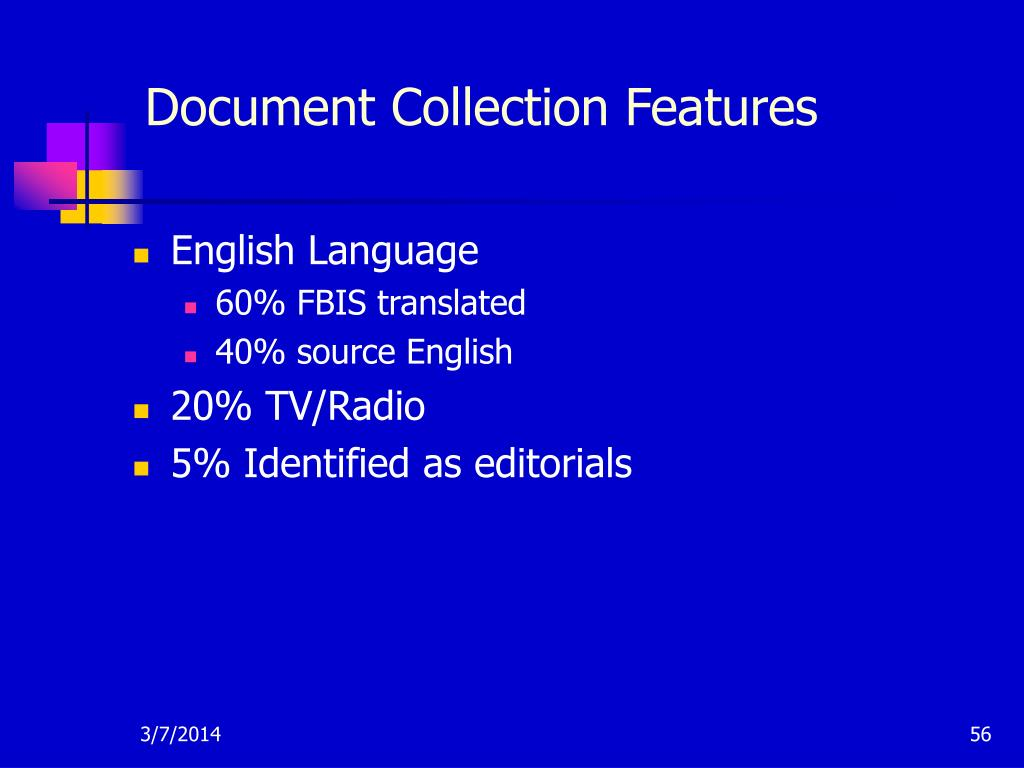 Document Collection Features