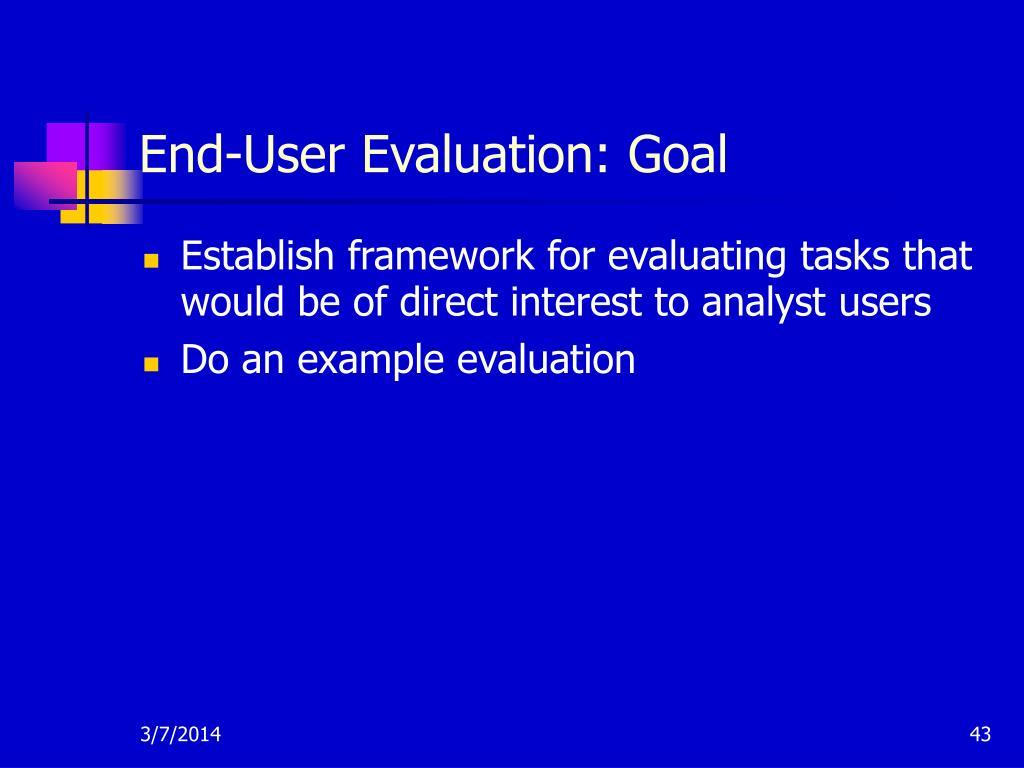 End-User Evaluation: Goal