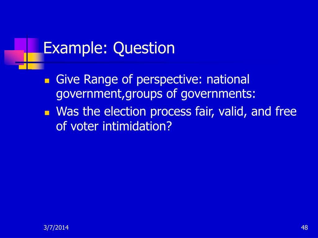 Example: Question