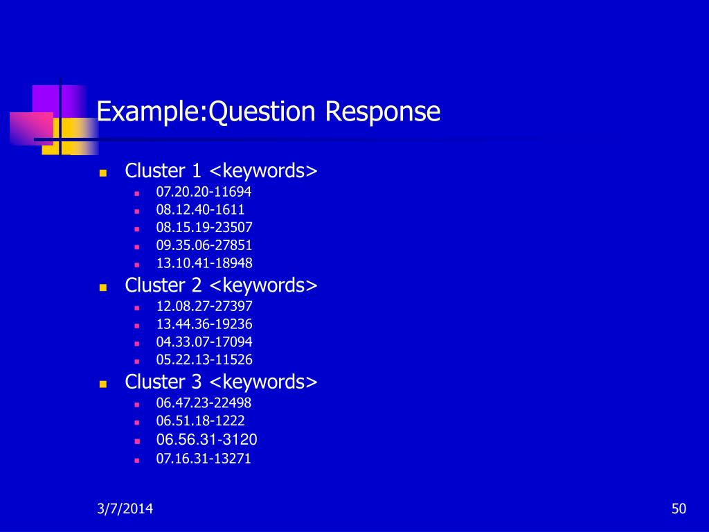 Example:Question Response