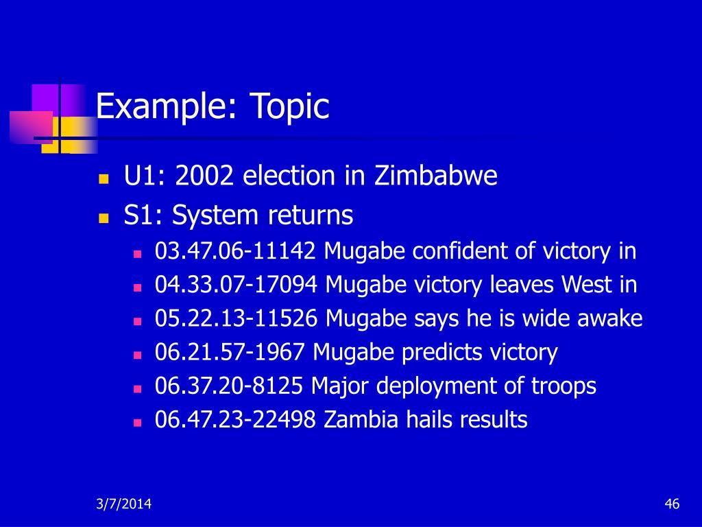 Example: Topic