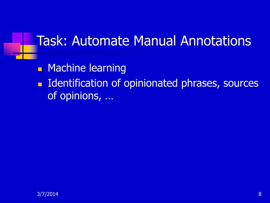 Task: Automate Manual Annotations