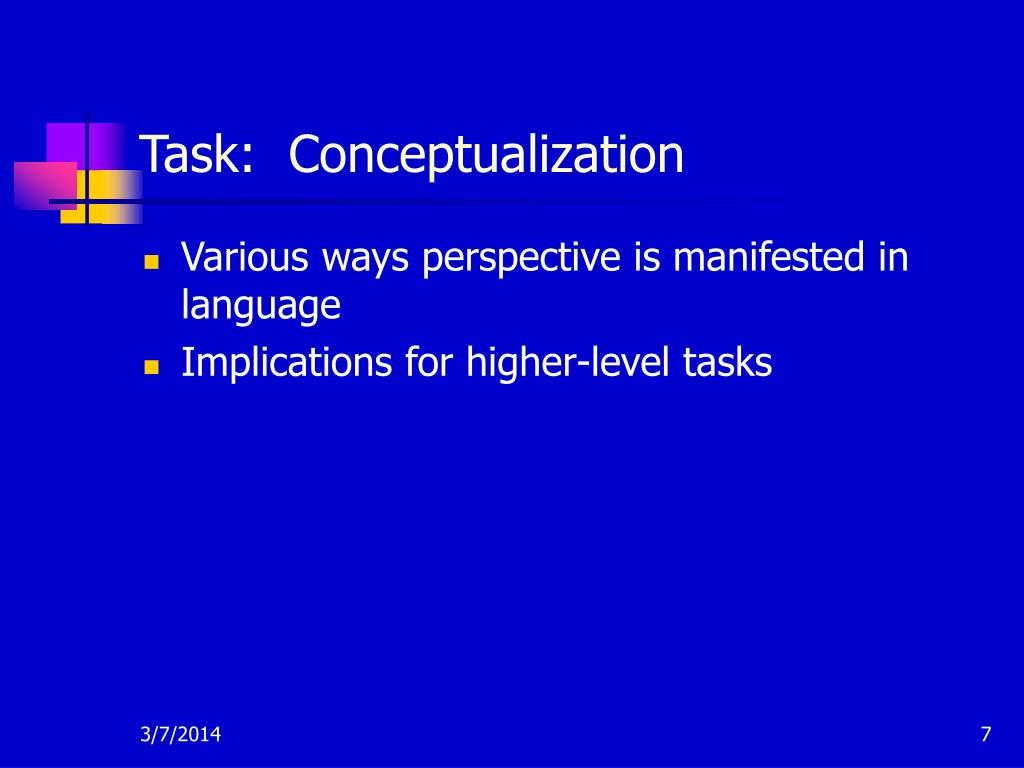 Task:  Conceptualization