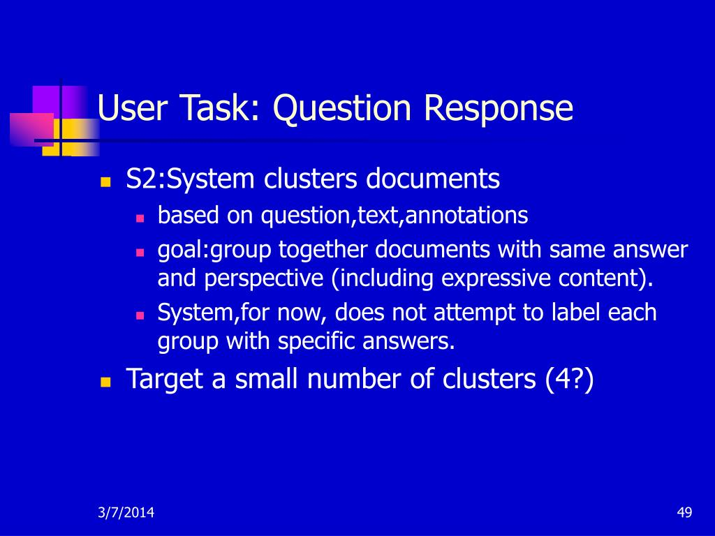 User Task: Question Response
