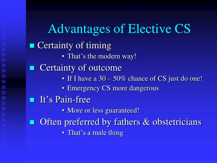 Advantages of Elective CS