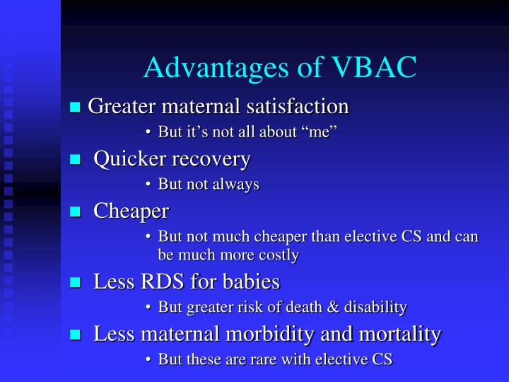 Advantages of VBAC