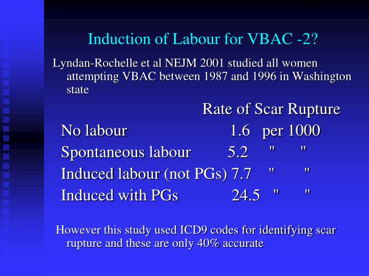 Induction of Labour for VBAC -2?