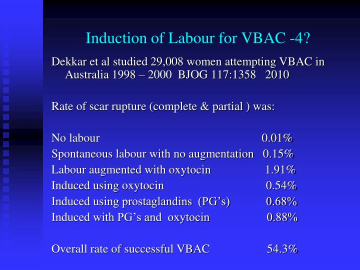 Induction of Labour for VBAC -4?