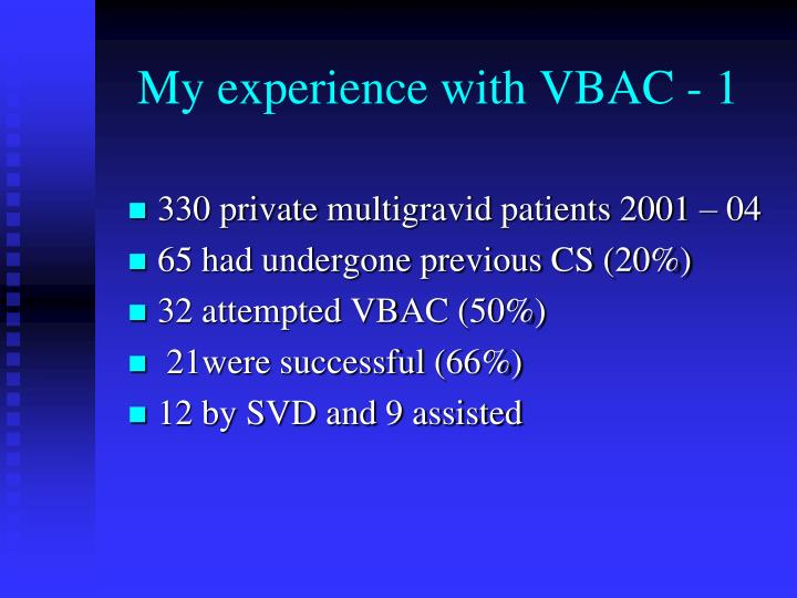 My experience with VBAC - 1