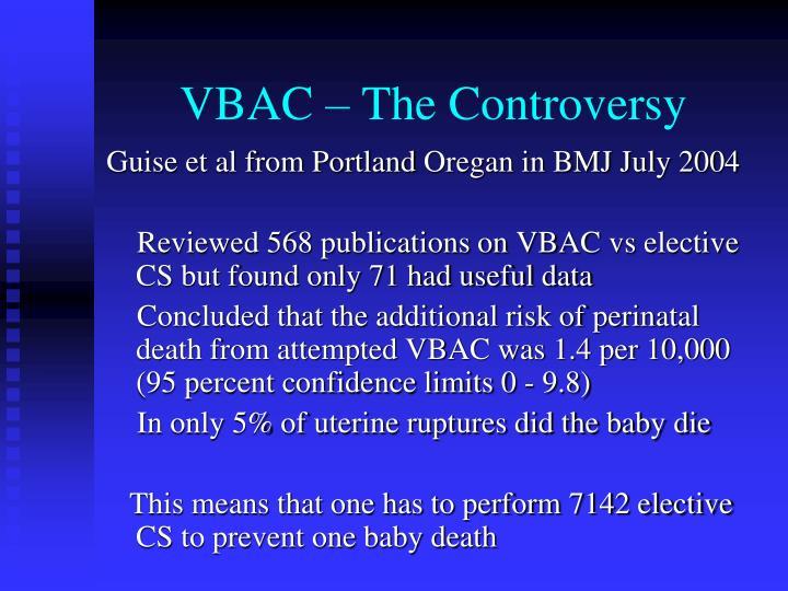 VBAC – The Controversy