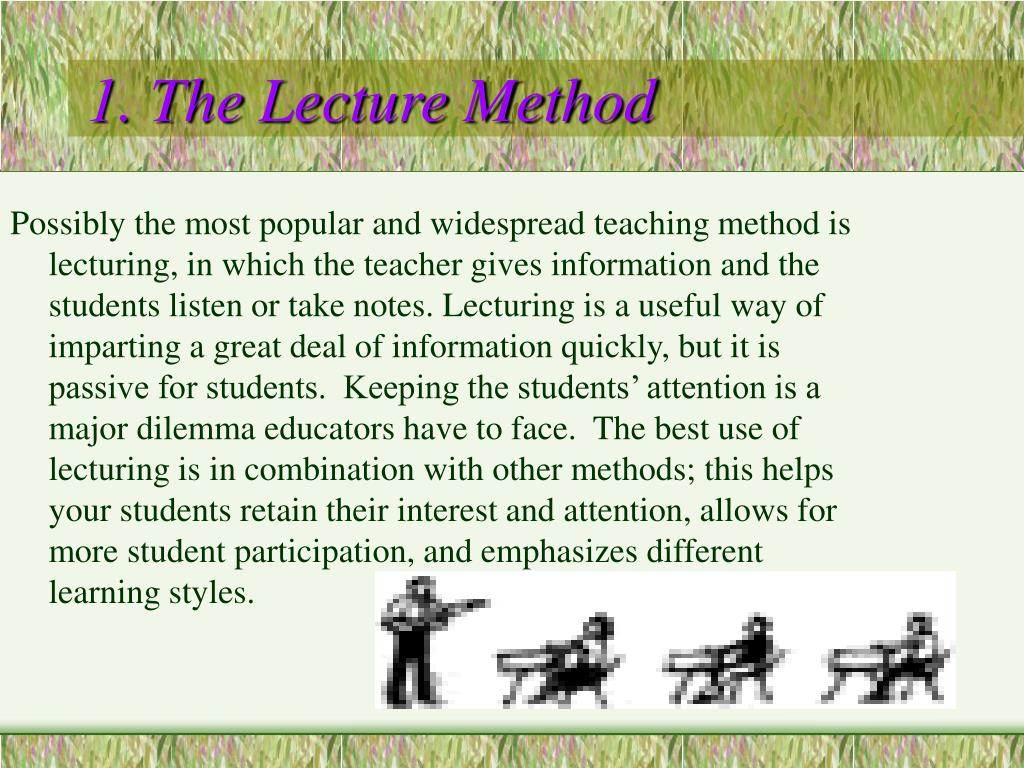 1. The Lecture Method