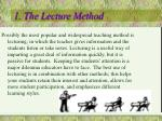1 the lecture method