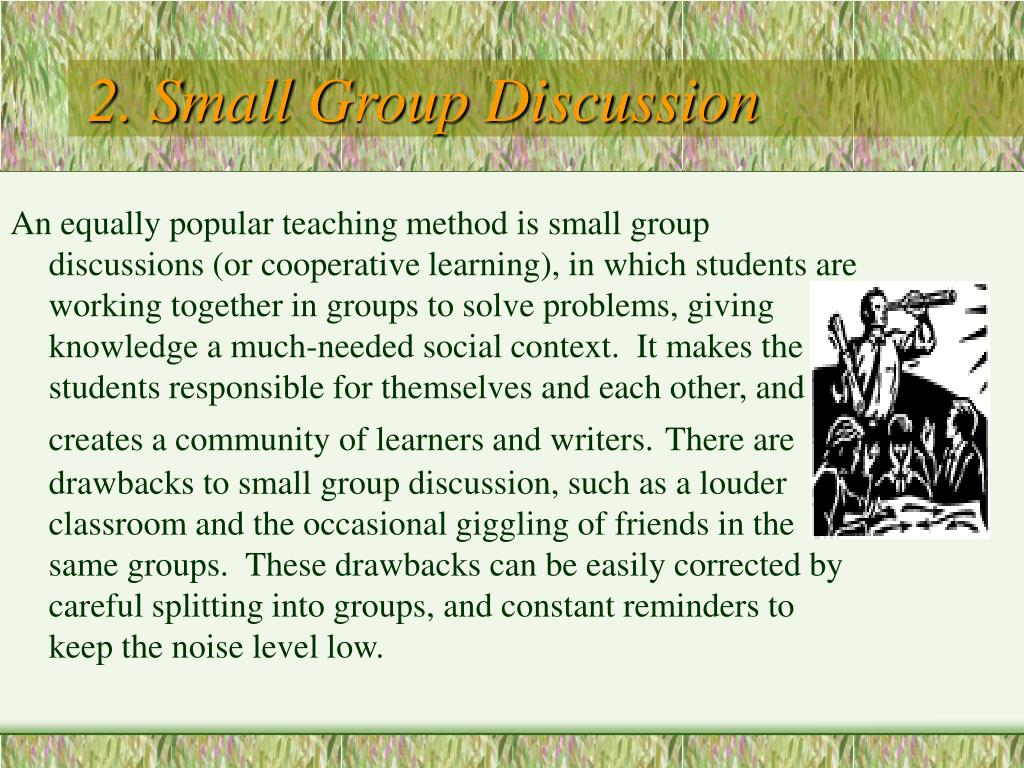 2. Small Group Discussion