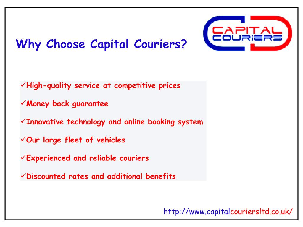 Why Choose Capital Couriers?