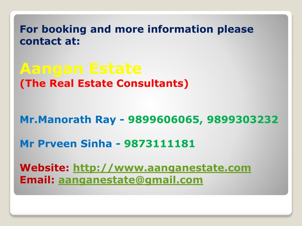 For booking and more information please contact at: