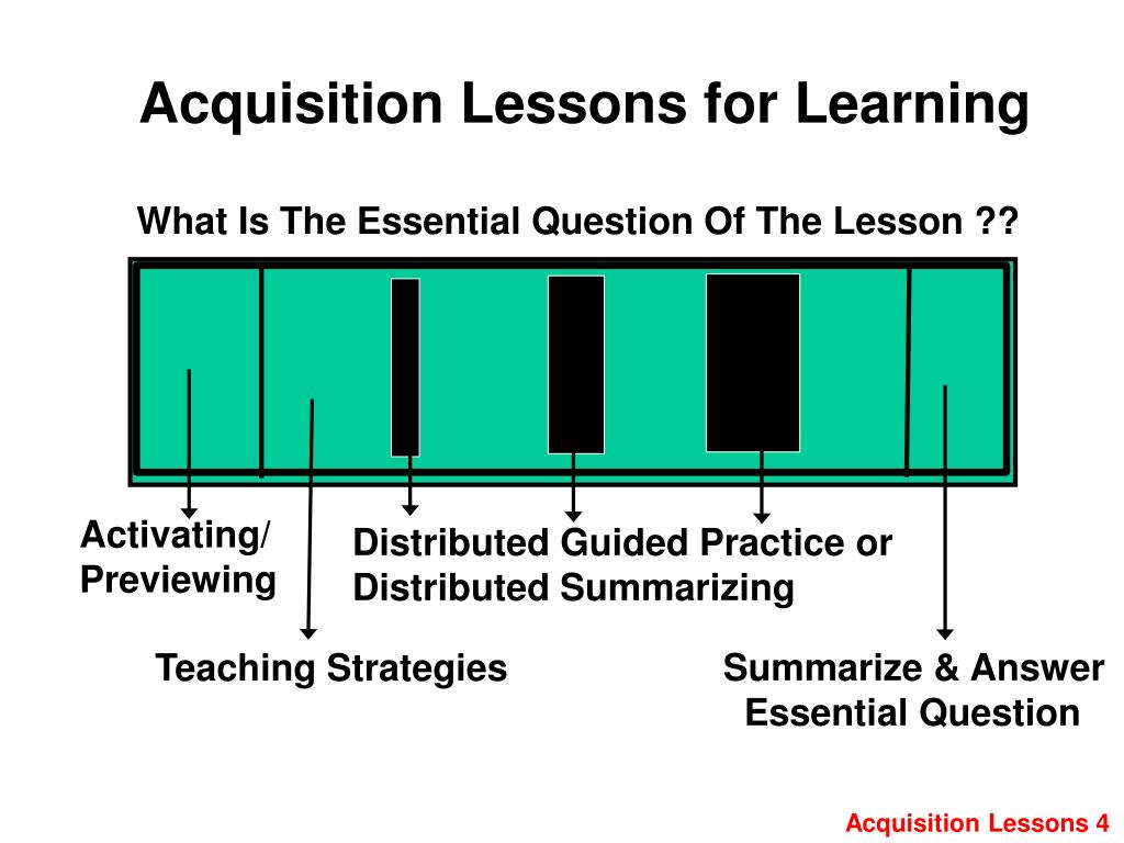 Acquisition Lessons for Learning