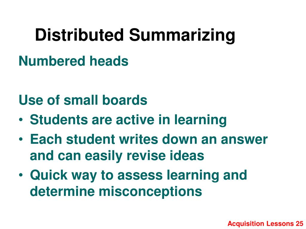 Distributed Summarizing