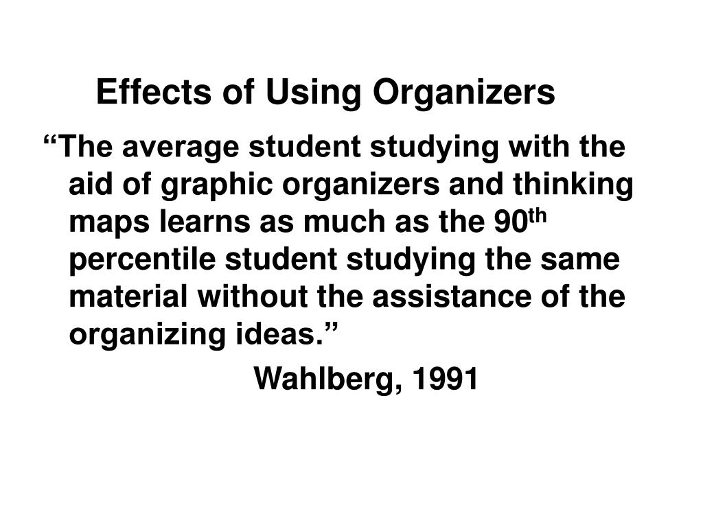 Effects of Using Organizers
