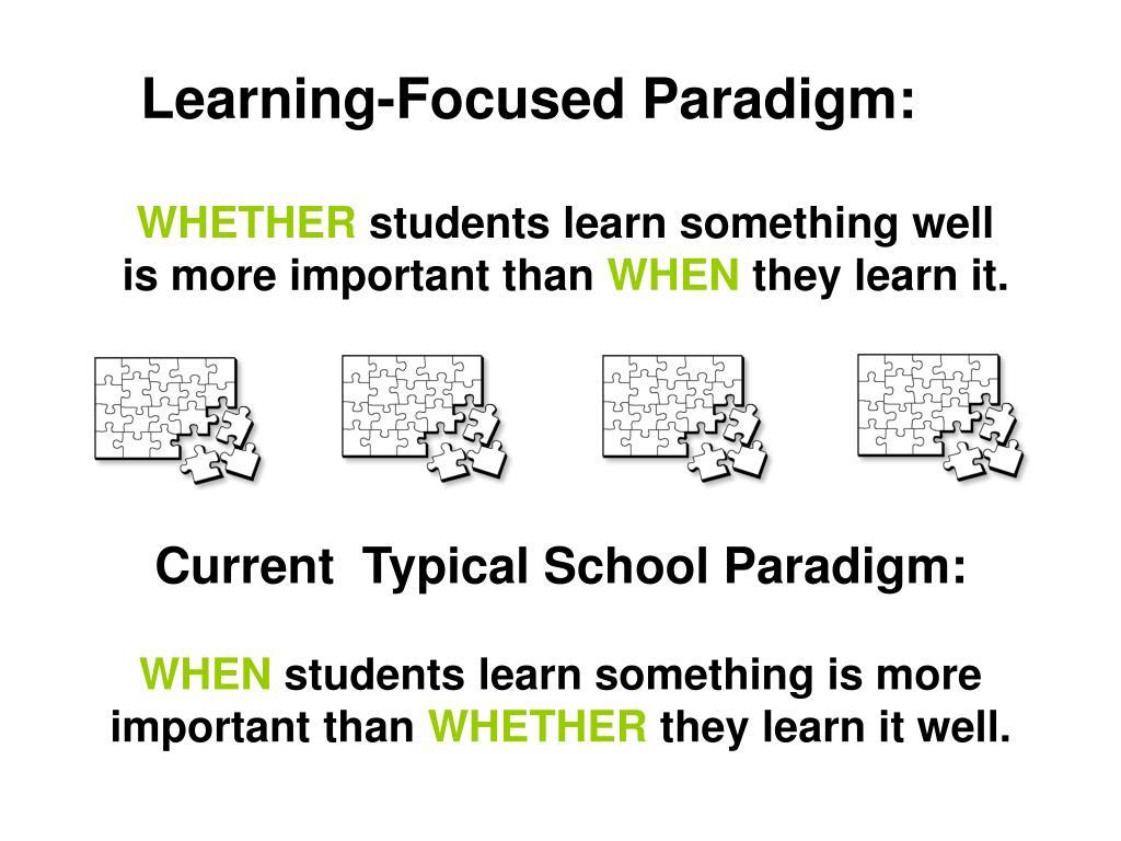 Learning-Focused Paradigm: