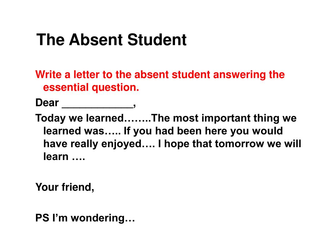 The Absent Student