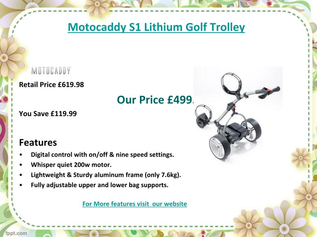 Motocaddy S1 Lithium Golf Trolley