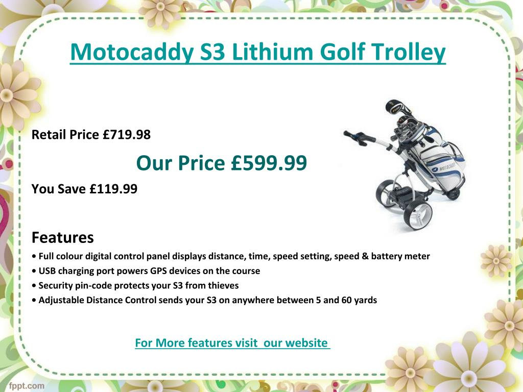 Motocaddy S3 Lithium Golf Trolley