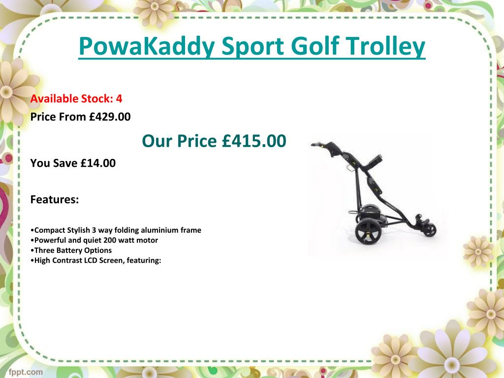 PowaKaddy Sport Golf Trolley