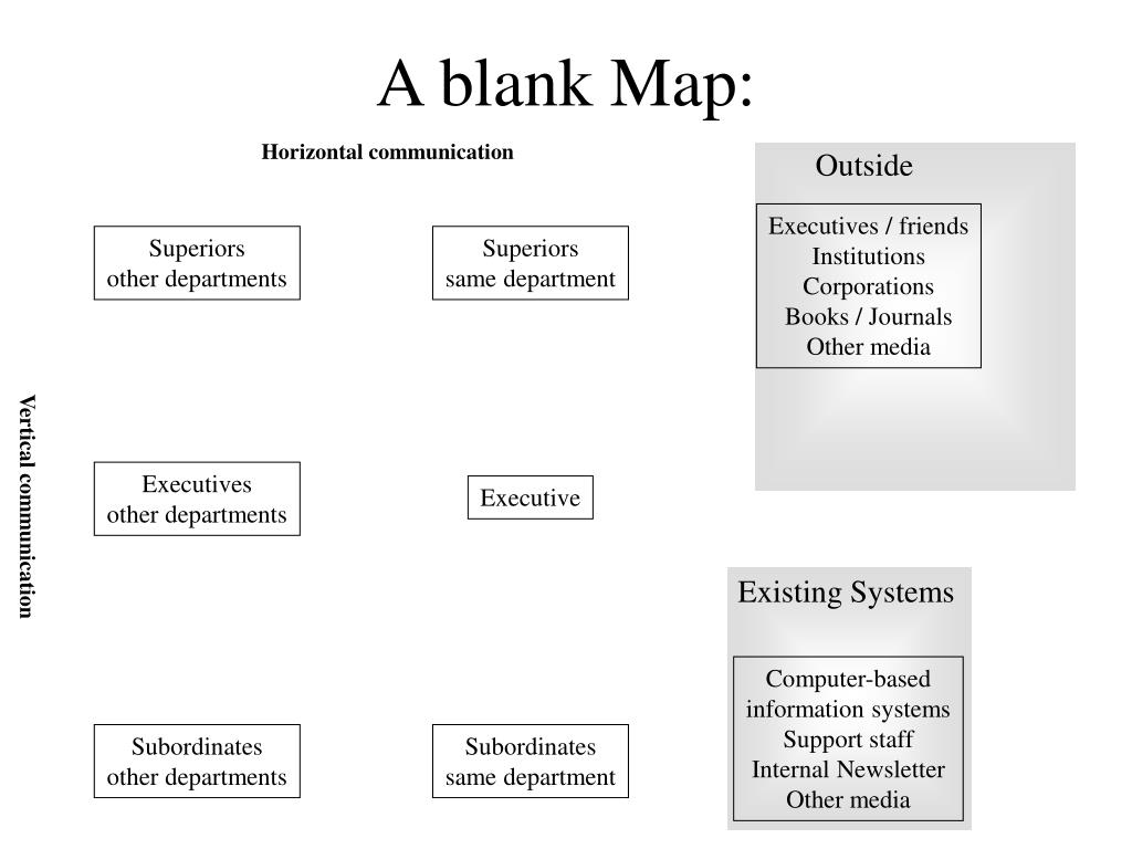 A blank Map:
