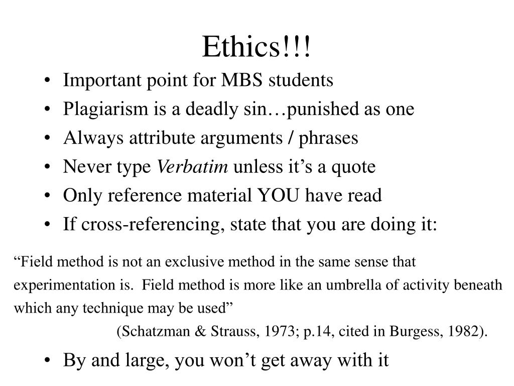 Ethics!!!