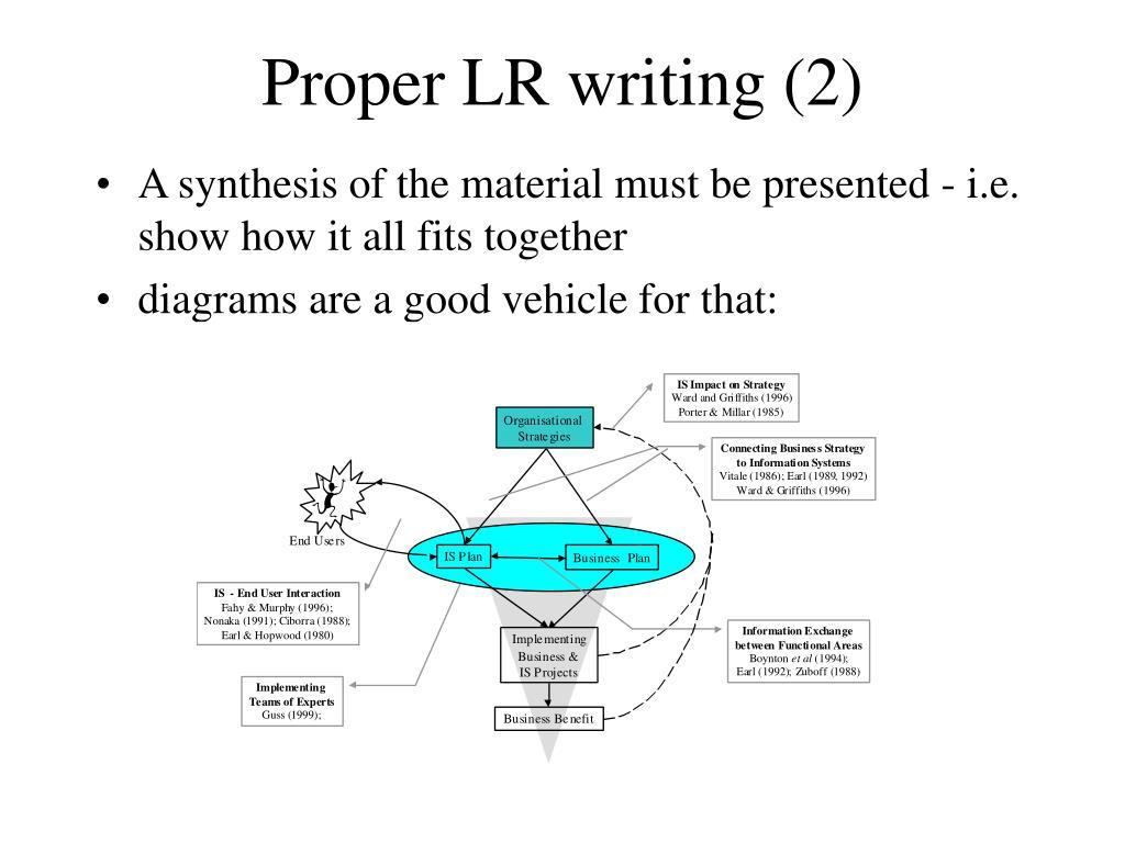 Proper LR writing (2)