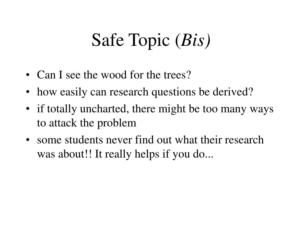 Safe Topic (