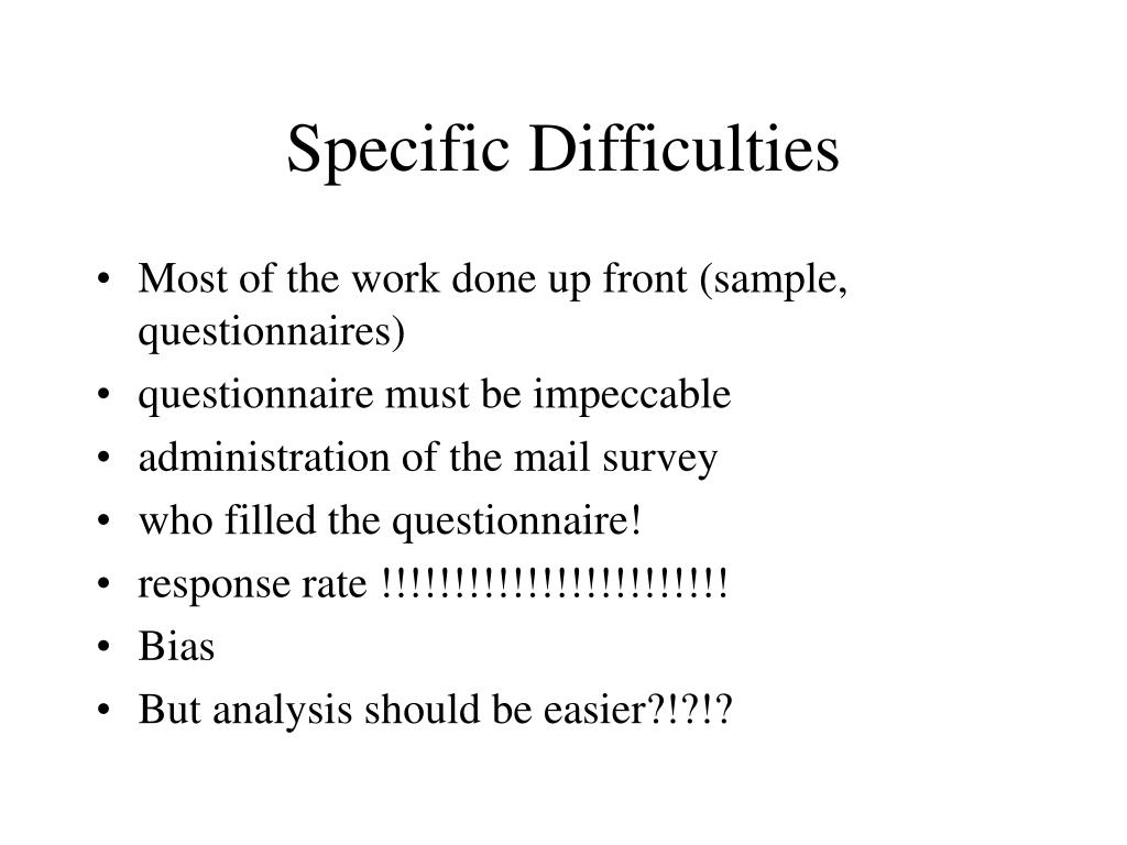 Specific Difficulties