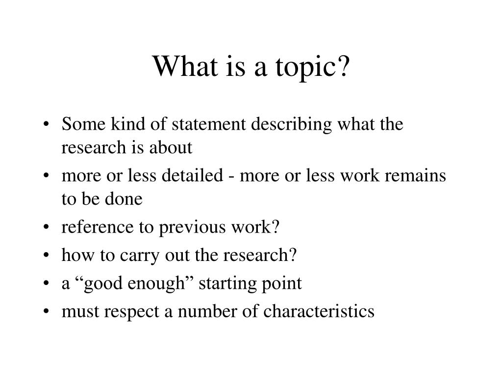 What is a topic?