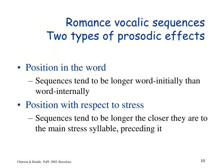 Romance vocalic sequences