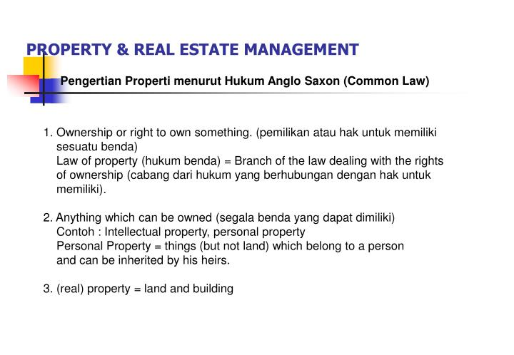 Property real estate management1