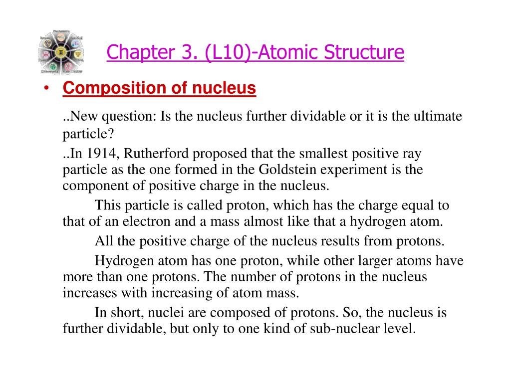 Chapter 3. (L10)-Atomic Structure