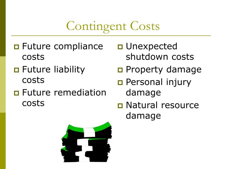 Future compliance costs