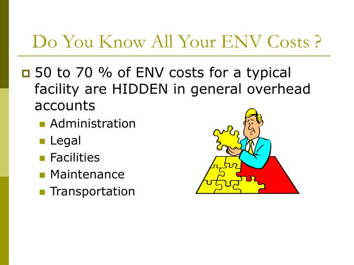 Do You Know All Your ENV Costs ?