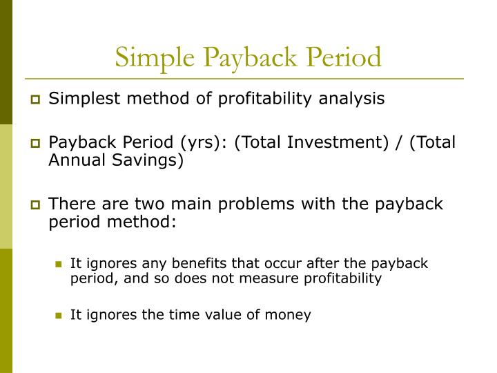 Simple Payback Period